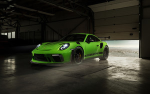 Preview wallpaper of Green, Car, Porsche 911 GT3 RS, Sportcar