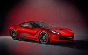 Preview wallpaper of Car, Chevrolet, Corvette, Red, Supercar