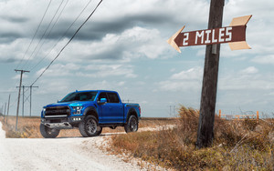 Preview wallpaper Blue, Car, Ford, Ford Raptor, Pickup