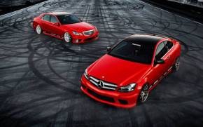 Preview wallpaper Mercedes E350 C350 tuning