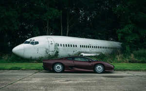 Смотреть обои Vehicles, Car, Jaguar XJ220, Airplane