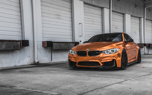 Смотреть обои Car, BMW M4, Orange, SportCar, Vehicle