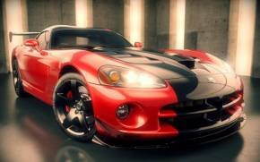 Смотреть обои Supercar Dodge Viper (додж вайпер) в 3D
