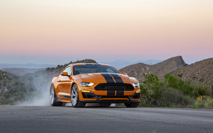 Preview wallpaper of Car, Ford Mustang Shelby GT, Muscle Car, Orange