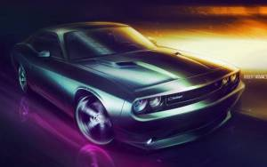 Смотреть обои Dodge Challenger, Robert Covals