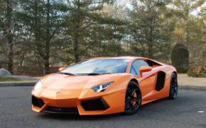 Смотреть обои Lamborghini Aventador orange