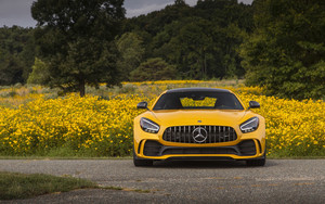 Preview wallpaper Car, Yellow, Mercedes, Mercedes-AMG GT R