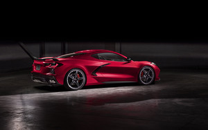 Preview wallpaper Car, Chevrolet, Chevrolet Corvette, Red, Sport Car