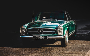 Preview wallpaper Auto, Retro, Front view, Mercedes