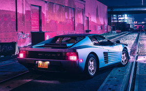 Preview wallpaper of Car, Ferrari Testarossa, Silver, Tommy Kallgren