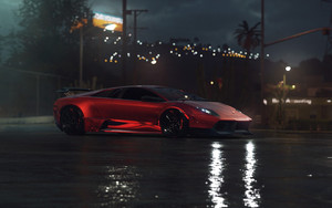 Смотреть обои Lamborghini Murcielago, Red, SuperCar, Vehicle