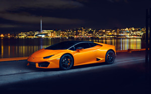 Preview wallpaper Car, Lamborghini, Lamborghini Huracan, Orange Car