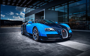 Preview wallpaper of bugatti veyron grand sport vitesse, blue