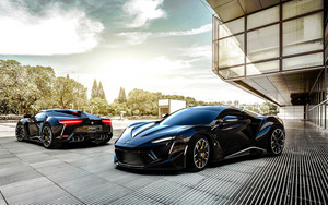 Смотреть обои Black, Car, Fenyr, SuperSport, Vehicle
