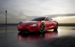 Preview wallpaper of Car, Red, Tesla Roadster