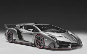 Preview wallpaper  Lamborghini, <b>Supercar</b>, Veneno, Silver