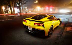 Смотреть обои Chevrolet Corvette Stingray Coupe C7