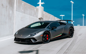 Preview wallpaper Car, Lamborghini, Lamborghini Huracan, Silver