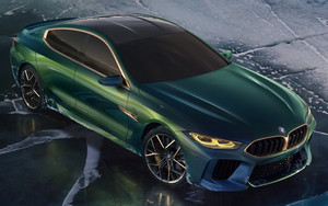 Смотреть обои BMW-M8-Gran-Coupe, Concept, Green Luxury-Car