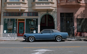 Preview wallpaper of Ford Mustang, Car, Facade, Vintage