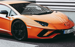 Смотреть обои Sportcar, Side view, Orange, Stylish, Lamborghini