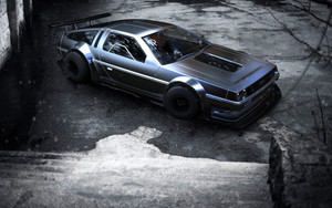 Смотреть обои DeLorean, Vehicle, Black, Car