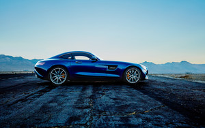 Preview wallpaper of Car, Blue, Mercedes-Benz AMG GT