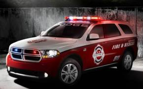 Смотреть обои Dodge Durango, fire & rescue,2012, 911