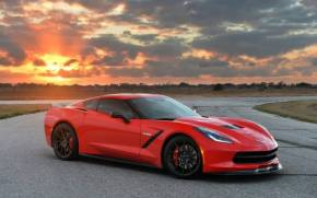 Смотреть обои hennessey, corvette, stingray