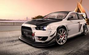 Смотреть обои Mitsubishi Lancer, Virtual Tuning