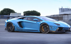 Preview wallpaper of Car, Blue, Lamborghini Aventador, Sport Car