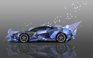 Смотреть обои digital art, Lamborghini Asterion