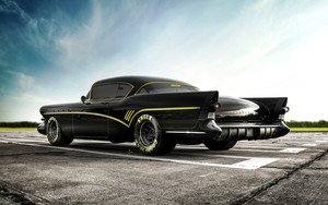 Смотреть обои Black, Car, Buick Roadmaster, Vehicle
