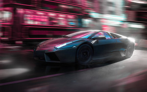 Preview wallpaper of Lamborghini Reventon, Car, Blue, Lamborghini