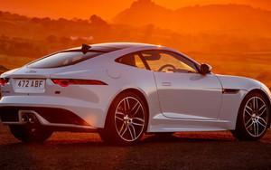 Preview wallpaper of Car, Coupé, Jaguar F-Type Coupe Chequered
