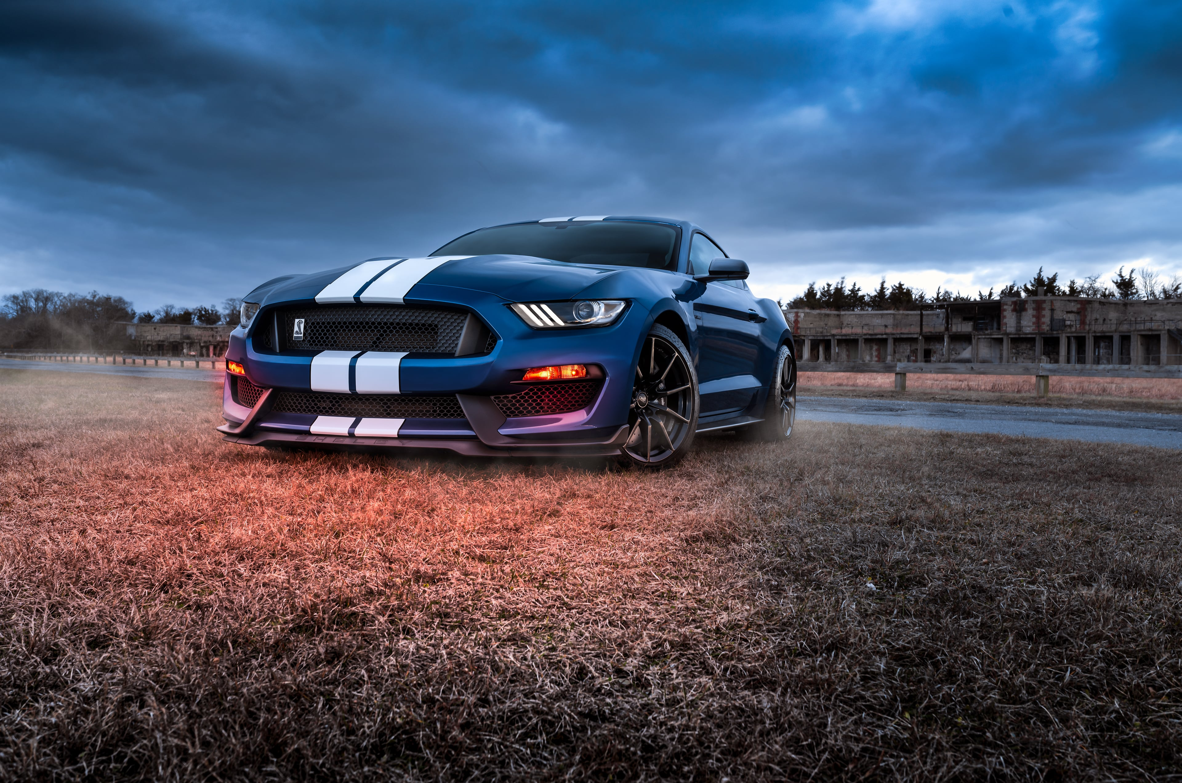 Wallpaper Blue Car Ford Ford Mustang Ubackground Com