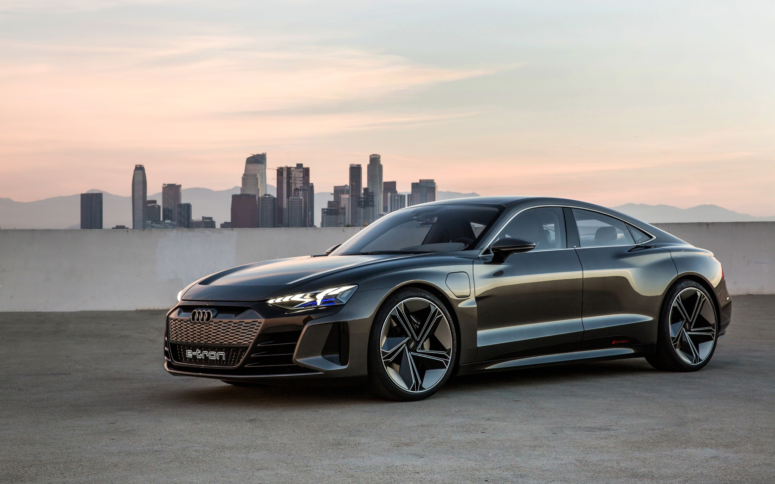 Wallpaper Of Audi, Audi E-tron, Electric Car, City, Los