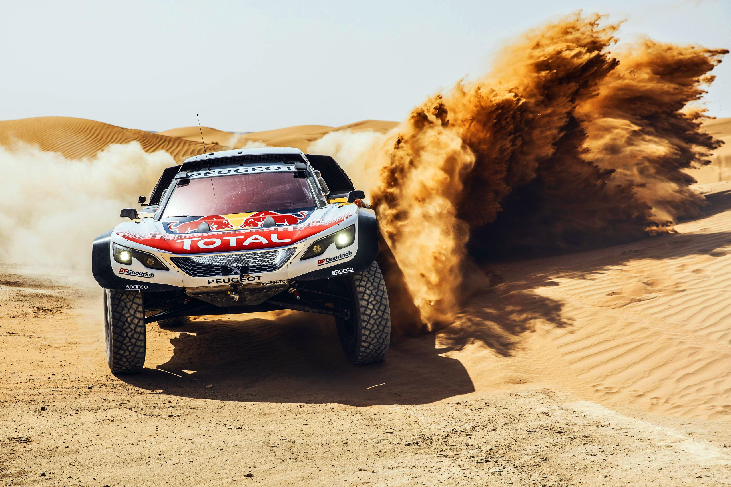 Wallpaper of Car, Desert, Peugeot, RaceCar, Rallying, Sand