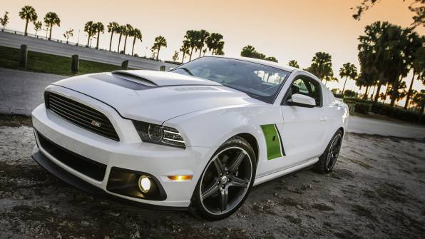 Обои Ford mustang roush rs3 белый