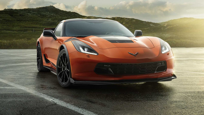 HD Wallpaper Car, Chevrolet Corvette (C7), Orange Car, SportCar