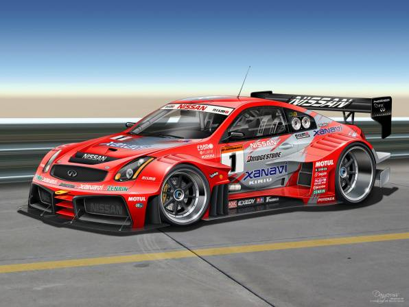 Обои Infiniti G-Series G35 race car