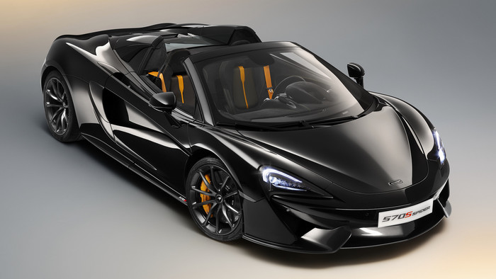 HD Wallpaper of Black, Car, McLaren 570S Spider Design Edition