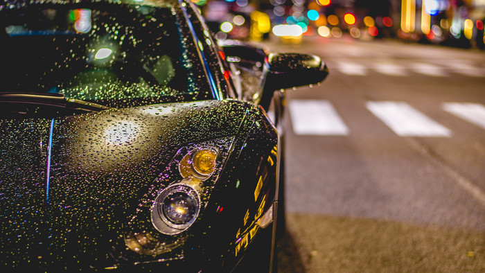 HD Wallpaper Lamborghini, Night, Rain
