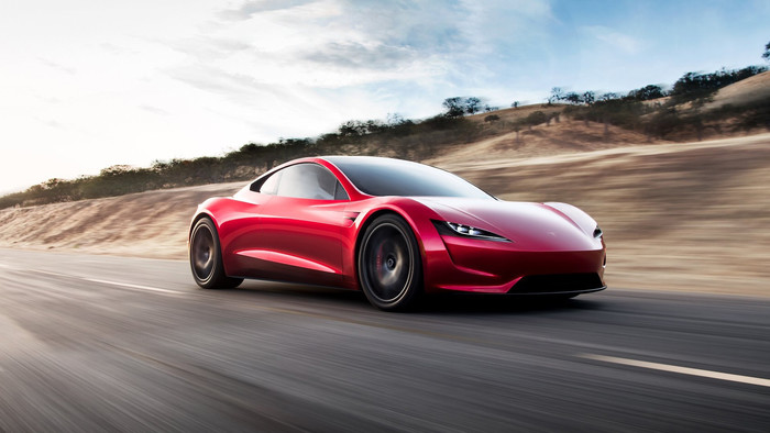 HD Wallpaper of Luxury, Red, Tesla, Tesla Roadster, Vehicle