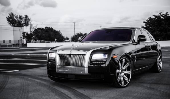 Обои Rolls Royce Ghost black