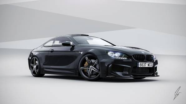 HD Wallpaper of Черная  bmw m6