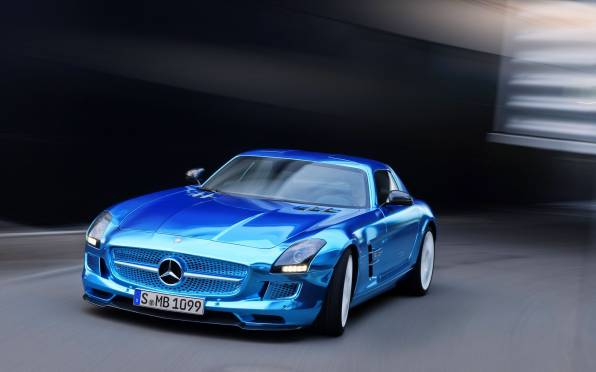 Превью обои: Mercedes-Benz SLS AMG Coupe Electric Driv