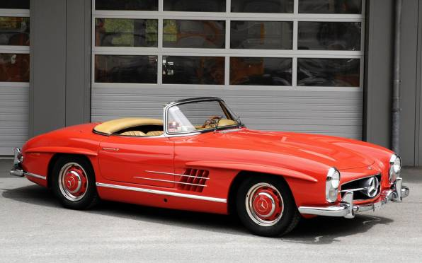 HD Wallpaper of mercedes-benz 300sl ретро кабриолет