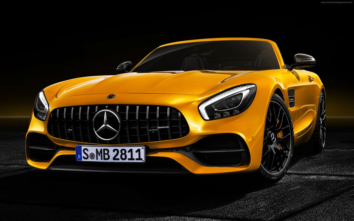HD Wallpaper Mercedes-Benz AMG GT S Roadster, 2019 Cars