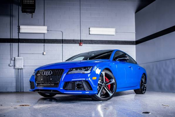HD Wallpaper Audi RS7 Blue